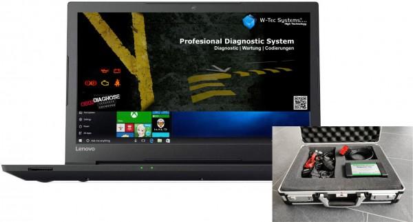 Brotos® Pro-Modul OBD2 Profi DIGITAL Diagnose Notebook komplett mit Koffer