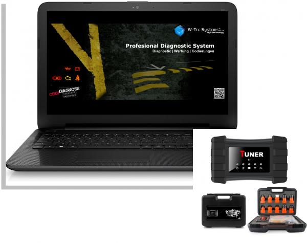 LKW Diagnose Notebook Gerät - Brotos® Pro-Modul LKW OBD2 für fast alle LKW mit Tiefendiagnose 2021 komplett mit Kabel,- und Adaptersatz
