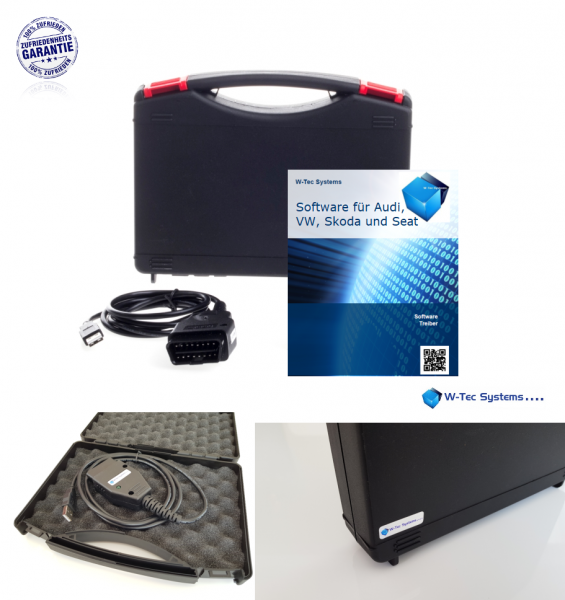 Testerset für VAG, Basic Set, Interface Diagnosetool 4.0 für VAG Fahrzeuge im Koffer. Incl. Voll-Ver