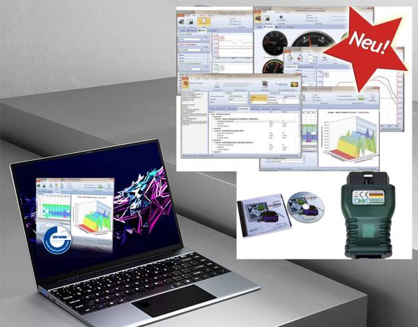 Premium OBD2 Tester Ultrabook komplett mit Interface und OBD2 Software in der Voll Version