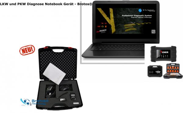 LKW und PKW Diagnose Notebook Gerät - Brotos® 2021